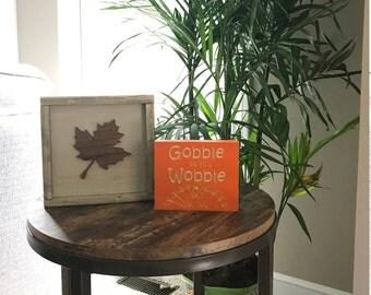 Thanksgiving Decor // Gobble Til You Wobble // Fall Sign