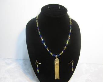 Handmade multicolor beads necklace set