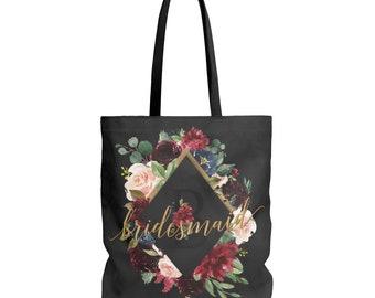 Bridesmaid Tote, Bridesmaid Gift, Bridesmaid Tote Bag, Personalized Tote, Tote Bag, Bridesmaid Bag, Bridesmaid Gifts, Bridal Party Gifts