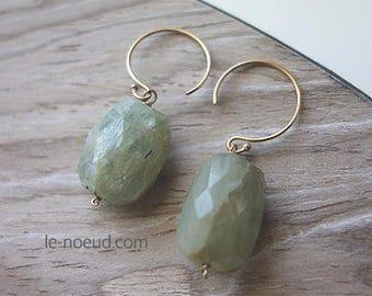Aquamarine K14GF Earrings
