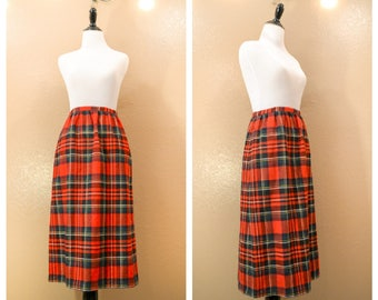 Vintage plaid pencil skirt, 70's skirt, Vintage skirt, Size Medium, Pencil skirt, Wiggle skirt, Plaid skirt, Womens. Clothing, Skirt,