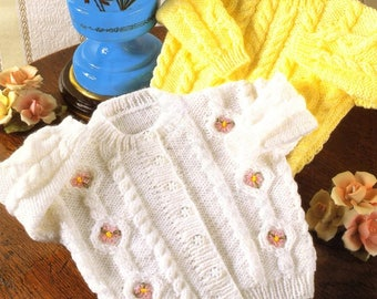 Baby Cardigan and Sweater, Knitted Pattern, Instant Download
