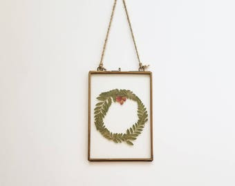 Framed Fern Wreath