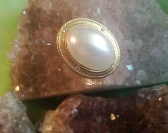 Vintage, brooch, pin, Booches, gold, rhinestones, Pearl, B5