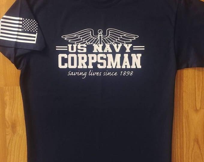 U.S. Navy Corpsman, Mens Shirt, Womens Shirt, Navy Reserve, Navy Shirt, Medical, Navy Apparel, Unisex t-shirt, Navy Veteran, Military shirt