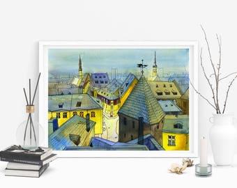 Tallinn Art Print, Tallinn Poster, Tallinn Picture, Tallinn Wall Art, Tallinn Painting, Tallinn Skyline, City Wall Art, City Art Print