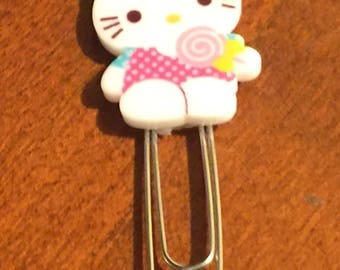Hello Kitty Planner Clip; Page Marker; Journal Clip; For Traveler's Notebooks, Happy Planner, Erin Condren
