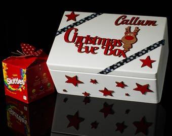 Christmas box, Personalised wooden box, Christmas Eve box