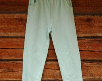 VINTAGE College pants in turquoise cotton
