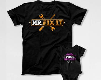 Father Daughter Matching Shirts Daddy Daughter T Shirts Dad And Daughter Matching Family Outfits Dad And Baby Gifts For Daddy TEP-230-232