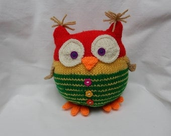Owl / Knitted owl / Soft toy / Handmade toy / Stuffed animal / Bird toy / Knitted animal / Knitted gift
