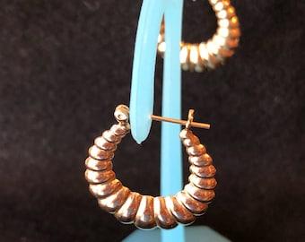 14kt yellow gold Shrimp Hoop Earrings