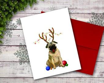 Christmas Card, Holiday Card, Dog Christmas Card | MerryWoofMas!
