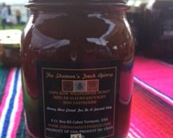 1.5 lb Jar Raw Vermont Wildflower Honey