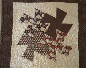 Whimsical Snowman Quilted Placemats - Set of 4