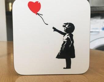Banksy Coaster #20 - Banksy Gift - Banksy Coaster - Custom Coaster -Gift for Her - Gift For Him - Fridge Magnets - Banksy Magnet - Souvenir