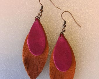 Genuine Buckskin Leather Earrings