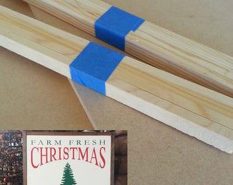 "Kit for Farm Fresh Christmas Trees sign - 20"" x 20"""