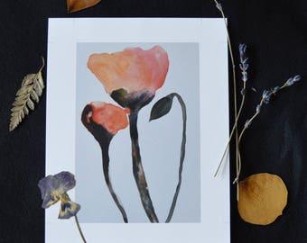 "Art Print, ""Poppy III"" Giclee Print"