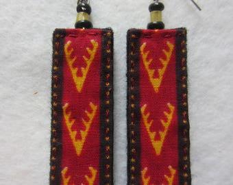 Earrings fabric wax 1,2,3