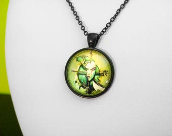 Undead Crest Warcraft Glass Necklace or Keychain