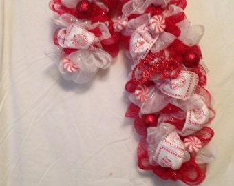 Candy Cane Christmas door decor