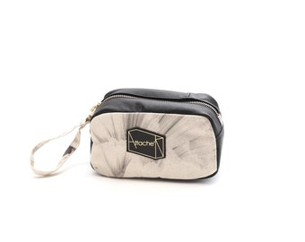 Paper Re-cycle-style collection digital print cuboid pouch