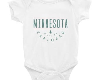 Minnesota Must Be Explored Funny MN State Gift Baby/Infant Bodysuit
