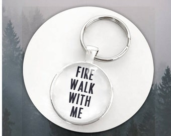 Twin Peaks- Fire Walk With Me Keychain/Necklace  Pendant