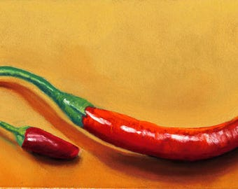 Red Hot Peppers painting