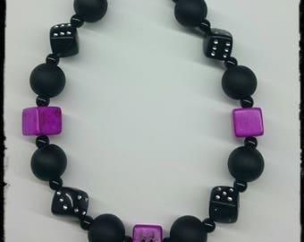 Dice bracelet & cubes (different colors)