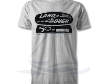 Land Rover Defender 50th Anniversary TShirt, Badge, Novelty T-Shirt, Cars, Novelty Gift, Defender T-Shirt, Land Rover T-Shirt Adults