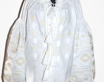 Vishivanka Vyshyvanka Embroidered clothes Boho Blouse Custom Bohemian Clothing Mexican Embroidery Ukrainian Shirt White Linen Blouses