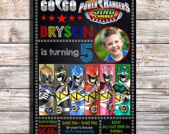 Power Rangers Dino Charge, Power Rangers Birthday Invitation, Power Rangers Birthday Party Invitation, Power Rangers Birthday, Power Rangers
