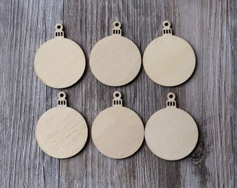 Wood Ornament Tag,Pendant Circles,unfinished wood ornament for Christmas,DIY Crafting Wood Ornament Shape,wood Christmas blanks