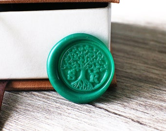 Custom tree of life two initials wax seal stamp kit, Personalized wedding wax seal, wedding gift,party wax seal stamp set, life tree stamp