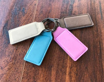 Personalized Leather Keychain,Laser Engraved Leather Keychain, Custom Distressed Leather Keychain, Fathers Day Gift,