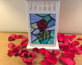 Beauty and the Beast Inspired Stained Glass Lantern
