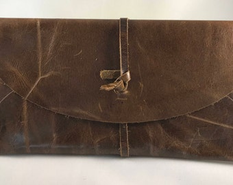 Leather Clutch// customized leather purse// personalized leather purse//