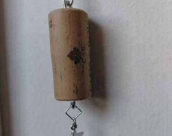Star Cork Keychain
