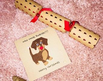 Dachshund Dog Christmas Card