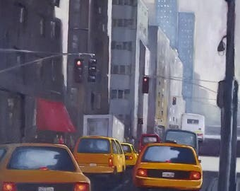 Madison Avenue, NYC - Original Oil Painting
