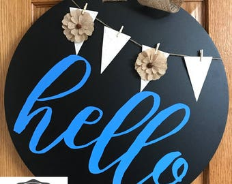 Magnetic Chalkboard Entryway Sign