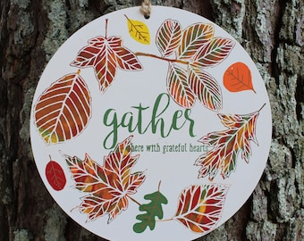 Gather Magnetic Round Sign (one-sided)