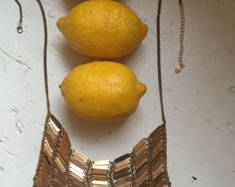 Brass coloured Goddess necklace