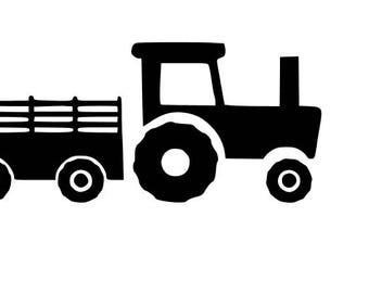 Tractor with Cart SVG cutting file