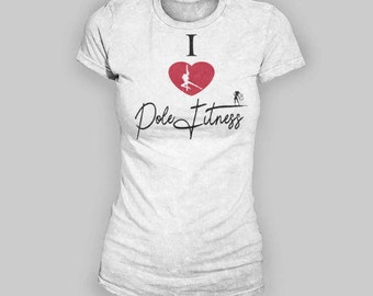 I Love Pole Fitness Women's T-Shirt. pole dance shirt. womens pole dance shirt. pole dancing shirt. pole fitness shirts. pole fitness.