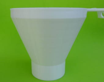3d funnel printed for cereals and large grains of medium-sized mouth