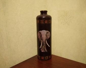 Bottle with elephant, vase, carafe, home decor, kitchen decor, room decor, gift