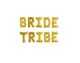Bride Tribe Gold Balloons,Bride Tribe Letter Balloons,Bride Tribe Gold Letter Balloons,Bride Tribe Balloons,Bridal Shower Balloons